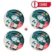Set de 4 Platos La Golondrina Colección Grau Corona
