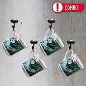 Set de 4 Mugs Mujer Perseguida por Pájaros Colección Grau Corona