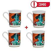 Set de 4 Mugs La Bella Lola Colección Grau Corona