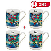 Set de 4 Mugs Homenaje a Cartagena Colección Grau Corona