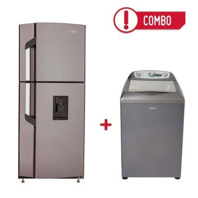 Nevera no Frost 222 Litros 2 Puertas Da Titanio + Lavadora Automática 13 Kg Onix