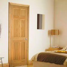 Puertas de madera sólida