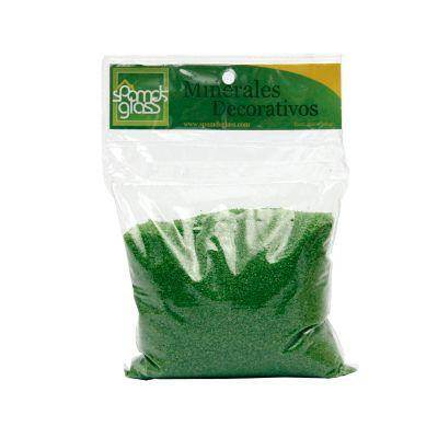 Arena decorativa verde x 500 gramos