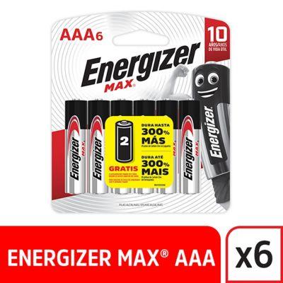 Pila AAA Alcalina Energizer Max 6 unidades