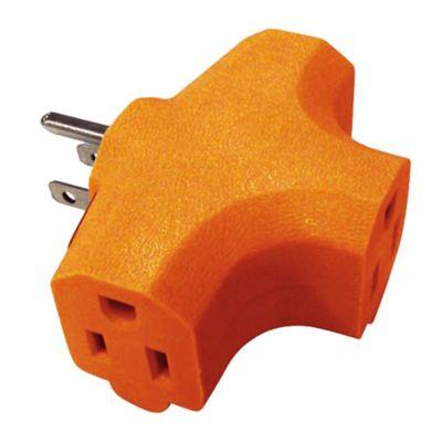 Multitoma polo a tierra en t 3 tomas industrial 15 amperios - 125 voltios