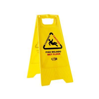 Señal de prevención piso mojado 62 cm