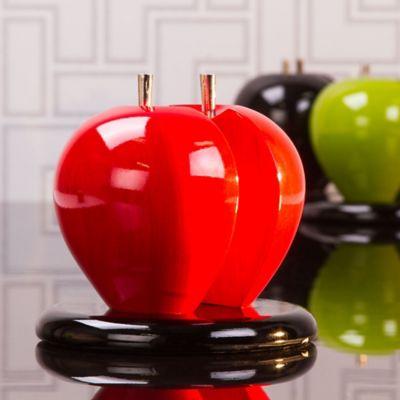 Servilletero manzana colores madera