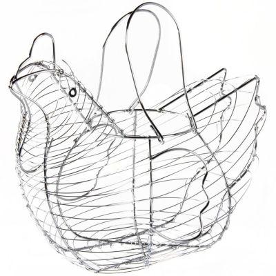 Portahuevos gallina rejilla cromado