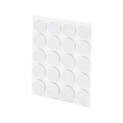 Antideslizante Caucho Circulo Blanco 18x18mm 20und
