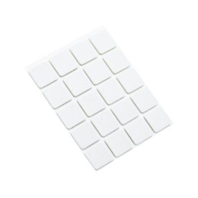 Antideslizante Caucho Cuadrado Blanco 18x18mm 20ud