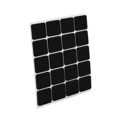 Antideslizante Caucho Cuadrado Negro 18x18mm 20und