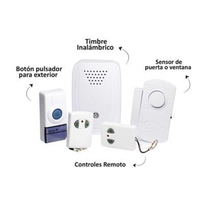 Set timbre Inalámbrico con Alarma con Detector Magnético