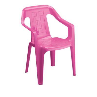 Silla plástica infantil estrella rosada