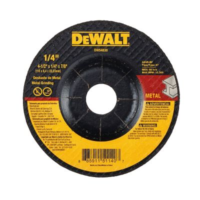 Disco Abrasivo Desbaste Metal 4 1/2 X 1/4  Ref DW44830