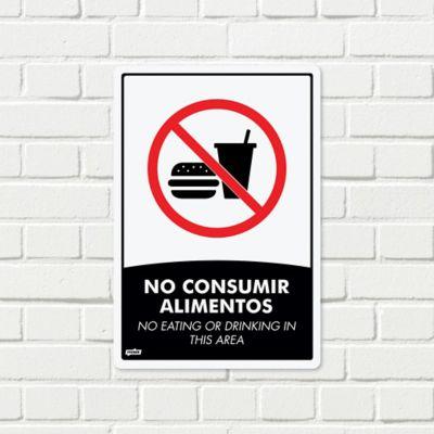 Señal NO Consumir Alimentos 22x15cm