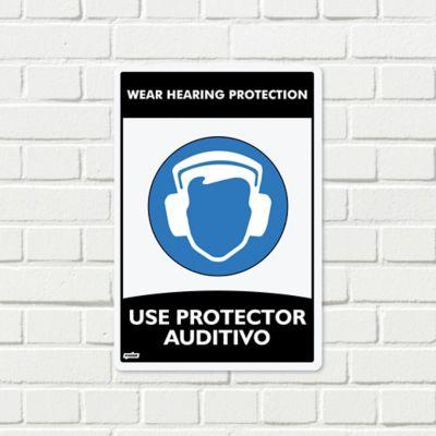 Señal Use Protector Auditivo 22x15cm