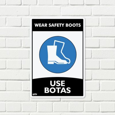 Señal Use Botas 22x15cm