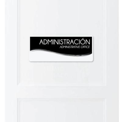 Señal Administración 30x11cm
