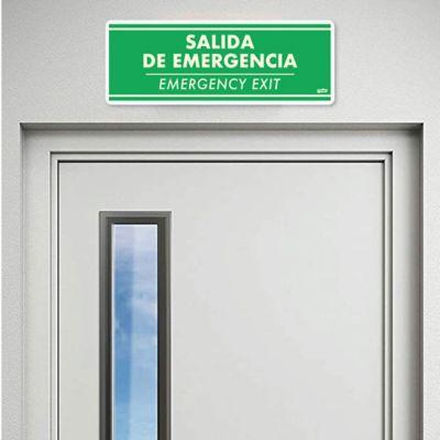 Señal Salida Fotoluminiscente 30x11cm