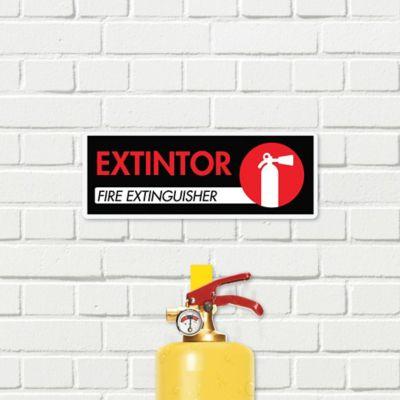 Señal Extintor De Incendio 30x11cm
