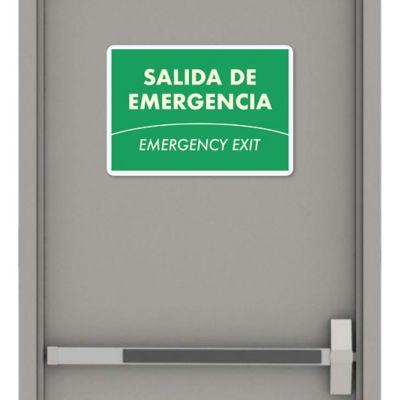 Señal Salida de Emergencia 35x24cm