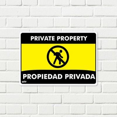 Señal Propiedad Privada Prohibido Ingreso 35x24cm