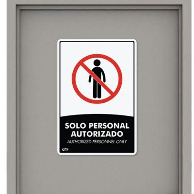 Señal Personal Autorizado 35x24cm