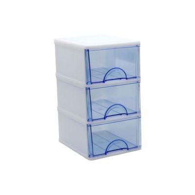 Caja Plástica 3 Cajones 14x25,5x17,5 cm Colores