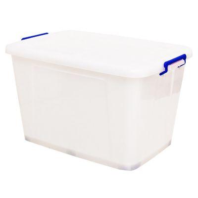 Caja Organizadora Con Ruedas 74x52x45 cm 173 Lt Blanco