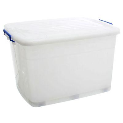 Caja Organizadora Con Ruedas 79x56x46 cm 203 Lt Blanco