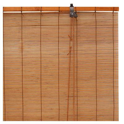 Persiana Enrollable 80x165 cm Bambú Cedro