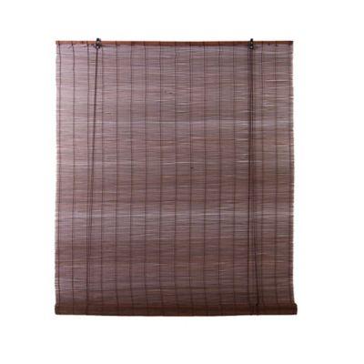 Persiana Enrollable 80x165 cm Bambú Wengue
