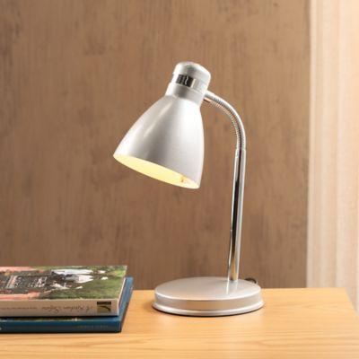 Lámpara escritorio incandescente plata