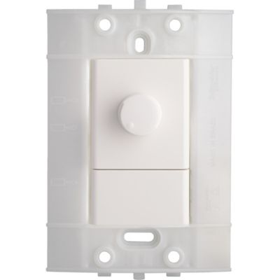 Dimmer Giratorio Decor, 120 V, 300 W, Blanco
