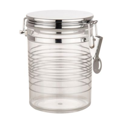 Recipiente hermético tapa cromada 0.72 litros