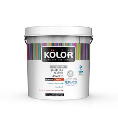 Pintura para Interior 2.5 Galones Blanco Mate Súper Lavable