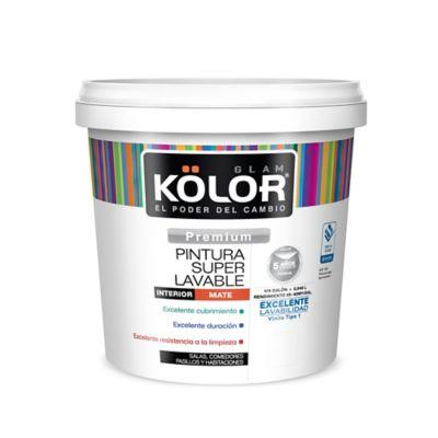 Pintura para Interior 1/4 Galón Blanco Súper Lavable