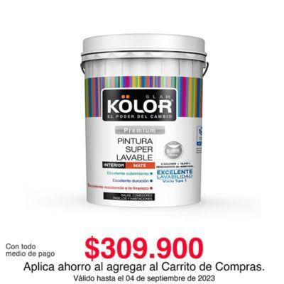 Pintura para Interior Blanco Almendra Súper Lavable 5 Galones