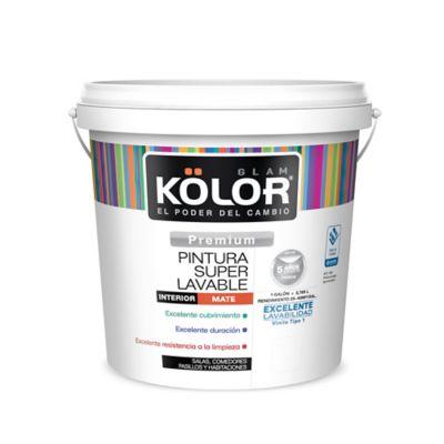 Pintura para Interior Blanco Almendra Súper Lavable 1 Galón