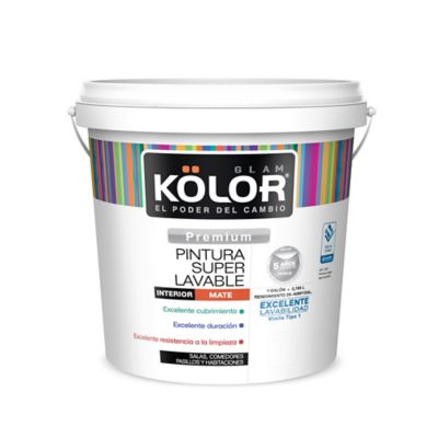Pintura para Interior Blanco Arena Súper Lavable 1 Galón