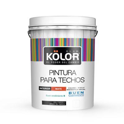 Pintura para Interior Techos y Cielos Rasos Blanco 5 Galones