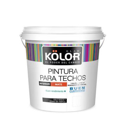 Pintura para Interior  Techos y Cielos Blanco 1 Galón