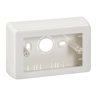 Caja de Superficie Dexson, Blanca, 40 mm, sin Tuerca, Horizontal-Vertical
