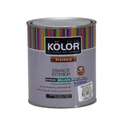 Base pastel esmalte  exterior 1/4 galón