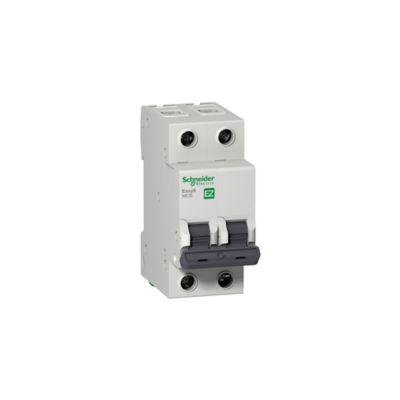 Mini Breaker Easy9, 2 Polos, 20 A, 10 kA, 230-400 V AC, Curva C, Riel DIN