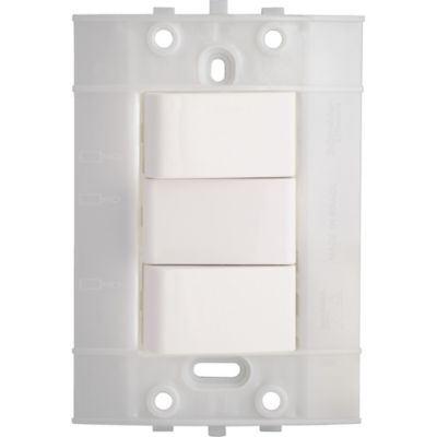 Interruptor Conmutable Doble Decor, 10 A, 250 V, Blanco, 3 Vías, sin Placa
