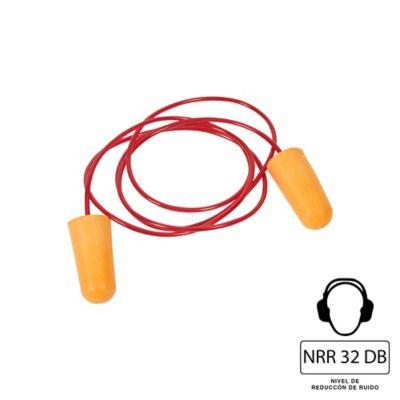Tapón Oido 32db Desechable Cordón 5 Pares