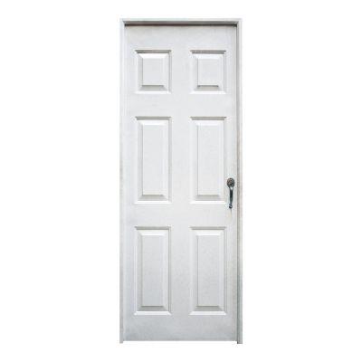 Puerta 0.90x2.10 Mts. Blanca Galv 6 Paneles - Ap. Izq Cal 20