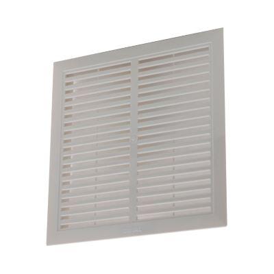 Rejilla ventilación sencilla plástica 20 x 20 cm
