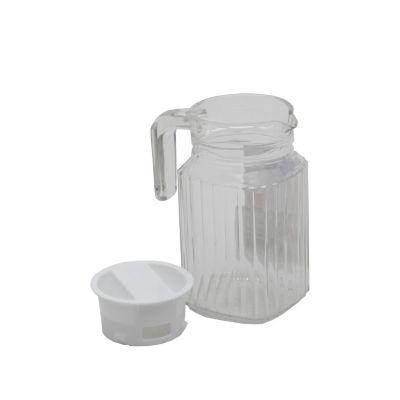 Jarra quadro 0.5 litros con tapa vidrio